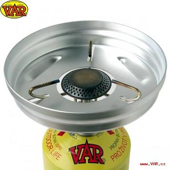 Závětří plamene plynové kartuše VAR