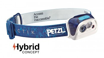 Čelovka PETZL ACTIK Hybrid - modrá 300 lms